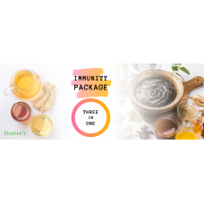 3-in-1 Immunity Package - Kashaya Powder, Pure Turmeric and Chyavanaprasha